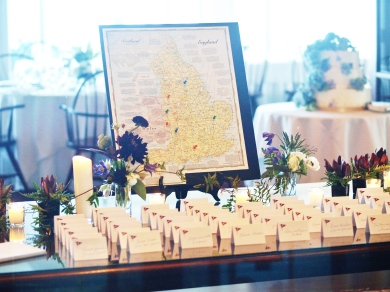Place card display table