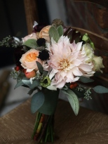 Oreonta house woodstock wedding bouquet closeup